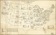 Statistical Prints - 1888 Statistical map of the United States Print by Vintage Maps