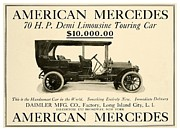 1907 Digital Art Prints - 1907 - Daimler Manufacturing Company - American Mercedes Demi Limousine Automobile Advertisement Print by John Madison