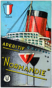 Liner Paintings - 1930 French Apertif Normandie   by Historic Image