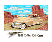 Business Drawings - 1948 DeSoto Club Coupe by Jack Pumphrey