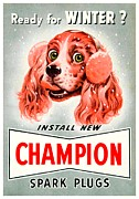 Champion Digital Art - 1949 - Champion Spark Plug Advertisement - Color by John Madison