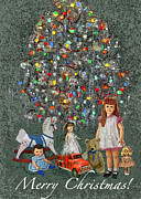 Toys Digital Art - 1950s Christmas by Maureen Tillman