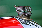 Photographs Photo Posters - 1953 Morgan plus 4 Le Mans TT Special Hood Ornament Poster by Jill Reger