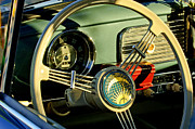 1956 Volkswagen Vw Bug Steering Wheel 2 Print by Jill Reger
