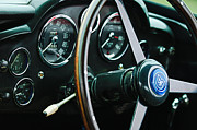1960 Photos - 1960 Aston Martin DB4 GT Coupe Steering Wheel Emblem by Jill Reger