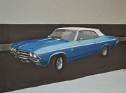 Transportation Drawings Prints - 1969 Chevelle Print by Paul Kuras