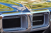 Automobile Abstract Photography Prints - 1969 Pontiac Firebird 400 Grille Print by Jill Reger
