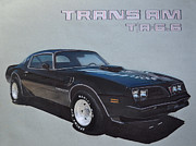 Transportation Drawings Prints - 1978 Pontiac Trans Am Print by Paul Kuras