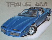 Transportation Drawings Prints - 1982 Trans Am Print by Paul Kuras