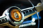 1949 Plymouth Prints - 1949 Plymouth P-18 Special Deluxe Convertible Steering Wheel Emblem Print by Jill Reger