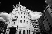 Bbc Framed Prints - bbc broadcasting house London England UK Framed Print by Joe Fox
