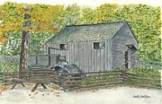 Tennessee Drawings Originals - Cable Mill by Jack Jenkins