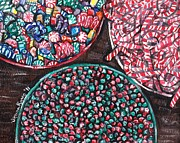 Bowls Paintings - Christmas Candy by Shana Rowe