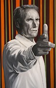 Clint Eastwood Art Paintings - Clint Eastwood by Tamara Vogrin