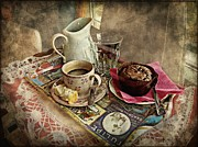 Pleasures Prints - Coffee Time Print by Barbara Orenya