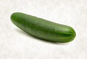 Salad Painting Framed Prints - Cucumber Framed Print by Danny Smythe