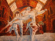 Bale Painting Metal Prints - Darwins Theory Metal Print by Edward Burbidge