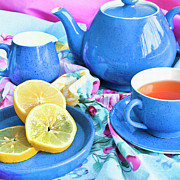 Vintage Teacup Prints - Do You Take Lemon? Print by Theresa Tahara