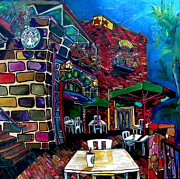 Riverwalk Paintings - Downtown Starbucks by Patti Schermerhorn