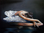 Nancy Bradley Painting Originals - Dying Swan by Nancy Bradley