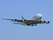 Klm Photos - Emirates Airbus A380 by Paul Fearn