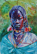 Mohamed Fadul Art - Girl from western Sudan by Mohamed Fadul