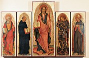 St John The Evangelist Framed Prints - Italy, Veneto, Venice, Accademia Art Framed Print by Everett