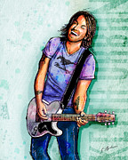 Country Music Keith Urban Posters - Keith Urban Poster by Gary Bodnar