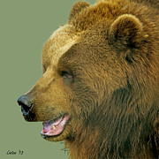 Kodiak Digital Art Prints - Kodiak Print by Larry Linton