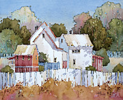 Picket Fence Prints - Mendocino Moment Print by Joyce Hicks
