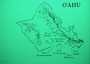 Cheryl Young - Military Fort Map Oahu