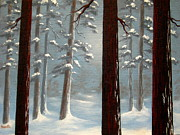 Serenity Scenes Paintings - Quiet  Pause by Shasta Eone