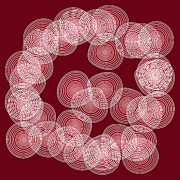 Frank Tschakert - Red Abstract Circles