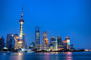 Fototrav Print - Shanghai Pudong cityscape at night