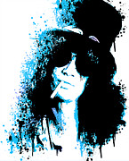 Guns N Roses Metal Prints - Slash Metal Print by Paul Green