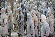 Xian Prints - Terracotta Army. 221-206 Bc. China Print by Everett