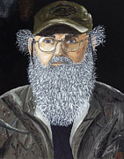 Duck Dynasty Framed Prints - Uncle Si Framed Print by Adam Dowling