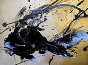 Champagne Paintings - Untitled I by Roya Gharavi
