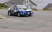Subaru Rally Prints - 2013 Targa Flatrock Car 555 Print by Darrell Young
