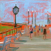 Boardwalk Framed Prints - RCNpaintings.com Framed Print by Chris N Rohrbach