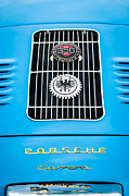 Replica Photos - 1960 Volkswagen VW Porsche 356 Carrera GS GT Replica Emblem by Jill Reger