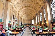 Pattern Books Framed Prints - Boston Public Library Framed Print by Songquan Deng