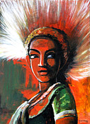 Dancing Girl Paintings - Dancing Girl by Govindan Marudhai