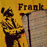 Frank Sinatra Mixed Media Originals - Frank by Laura Toth