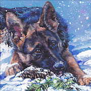 German Shepherd Prints - German Shepherd Print by Lee Ann Shepard
