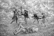 Guard Digital Art - Medieval battle by Jaroslaw Grudzinski