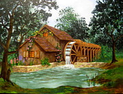 Disney Artist Paintings - Mill  Caretaker  by Shasta Eone