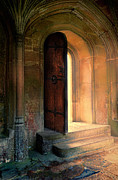 Medieval Entrance Posters - Open Door Poster by Jill Battaglia