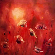 Poppies Fine Art Print by Gina De Gorna
