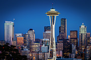 Seattle Skyline Art - Seattle Skyline by Brian Jannsen